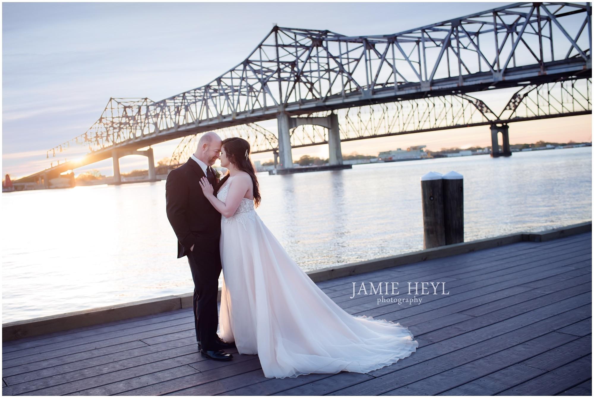 Morgan City riverfront wedding photography