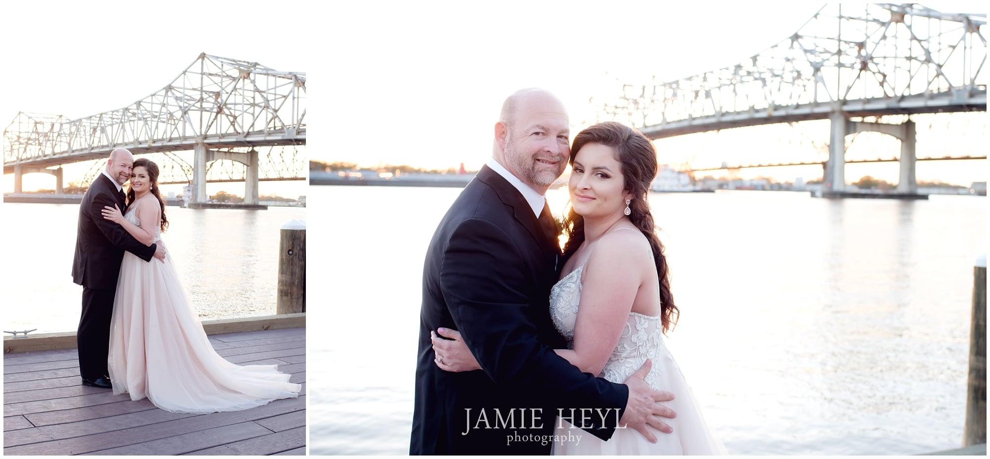 Morgan City Riverfront wedding pictures