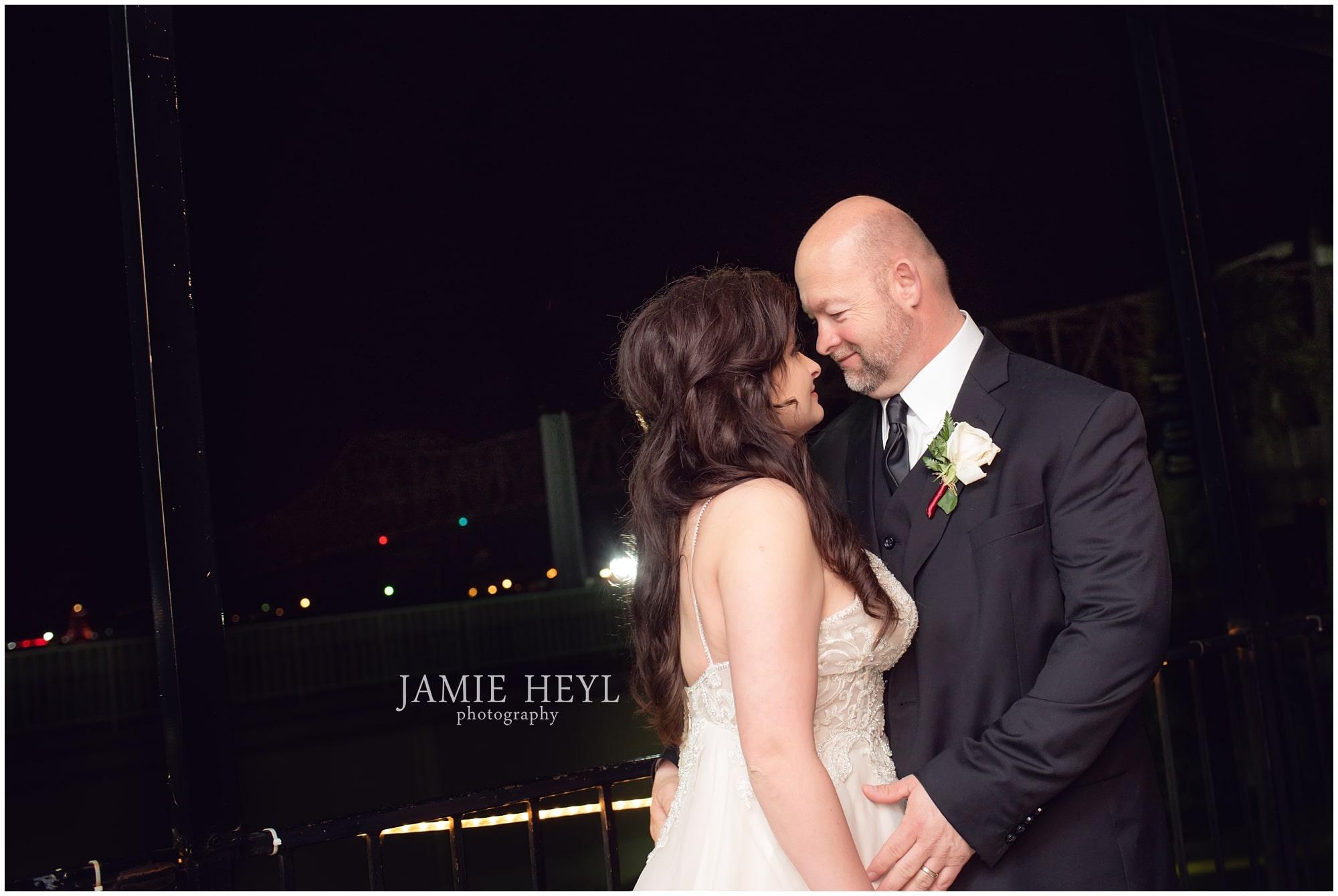 Morgan City bridge bride and groom