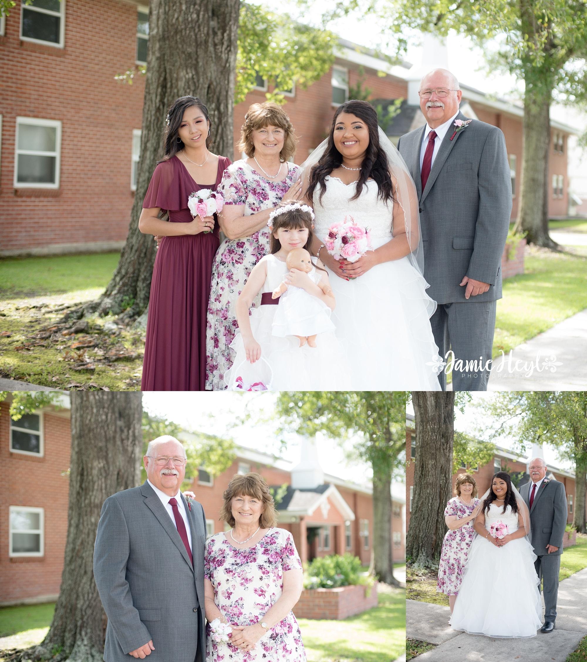 Bayou Vista Baptist Church Wedding Photos